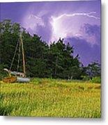 Storm Over Knott's Island Metal Print
