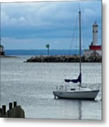 Storm Over Mackinac Metal Print