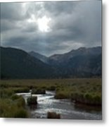 Storm Over Moraine Park Rocky Mountain National Park Metal Print