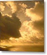 Storm Over Ocean Metal Print