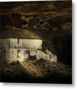 Storm Over Old Country House Metal Print