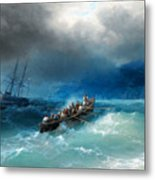 Storm Over The Black Sea Metal Print