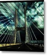 Storm Over The Bridge  Metal Print