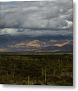Storm Over The Mountains Of Arizona Metal Print