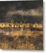 Storm Over The Park Metal Print
