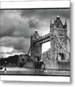 Storm Over Tower Bridge Metal Print