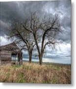 Storm Sky Barn Metal Print
