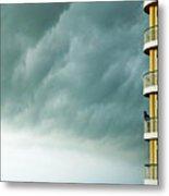 Storm Watchers At Perdido Key Fl Metal Print
