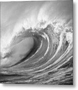 Storm Wave - Bw Metal Print