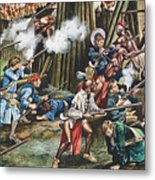 Storming Of The Fortress Of Neoheroka Metal Print