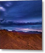 Stormline Above Mountains Metal Print