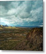 Storms And Cliffs Metal Print