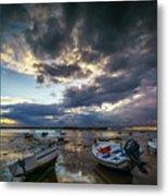Storms At Dusk In La Caleta Cadiz Spain Metal Print