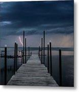 Storms On The Dock Metal Print