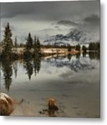 Storms Over Talbot Lake Metal Print