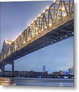 Storms Over The Crescent City Connection Metal Print