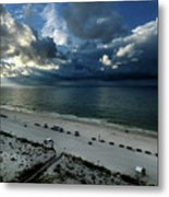 Storms Over The Gulf Of Mexico Metal Print