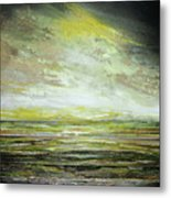 Stormsand Beach Textures No2yellow Metal Print