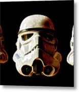 Stormtrooper 1-3 Weathered Metal Print