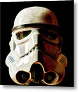Stormtrooper 1 Weathered Metal Print