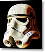 Stormtrooper 3 Weathered Metal Print