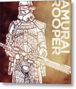 Stormtrooper - Star Wars Art - Brown Metal Print