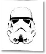 Stormtrooper Helmet Star Wars Tee Black Ink Metal Print
