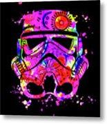 Stormtrooper Mask Rainbow 10 Metal Print