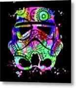 Stormtrooper Mask Rainbow 6 Metal Print