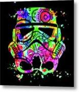 Stormtrooper Mask Rainbow 8 Metal Print