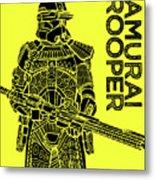 Stormtrooper - Yellow - Star Wars Art Metal Print