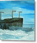 Stormy At Morro Bay Metal Print
