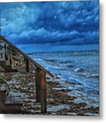Stormy Backyard  Metal Print