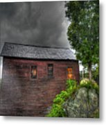 Stormy Barn Metal Print