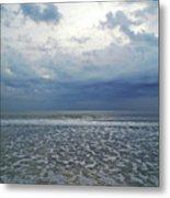 Stormy Beach Beauty Metal Print
