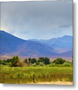 Stormy California Mountains Metal Print