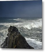 Stormy Day At Sunset Bay Metal Print
