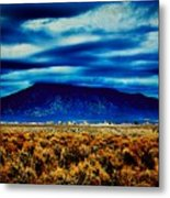 Stormy Day In Taos Metal Print