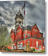 Stormy Day Jones County Georgia Court House Art Metal Print