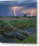 Stormy Evening Metal Print