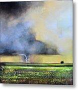 Stormy Field Metal Print