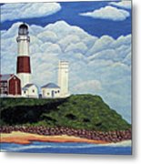 Stormy Montauk Point Lighthouse Metal Print