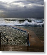 Stormy Morning At Collaroy Metal Print by Avalon Fine Art Photography