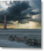 Stormy Morris Island Metal Print