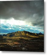 Stormy Mountains In Sunlight Metal Print