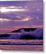 Stormy Ocean Panoramic  Metal Print
