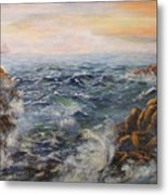 Stormy Pacific Metal Print