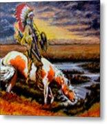 Stormy Prairie Metal Print