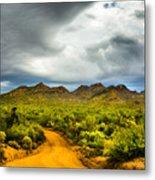 Stormy Road Home Metal Print