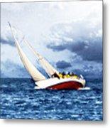 Stormy Sea Metal Print